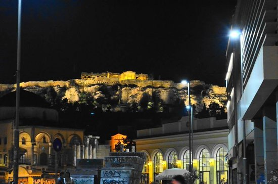 A for Athens: view in the night