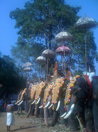 Thalappoli fest at Kodungallur temple