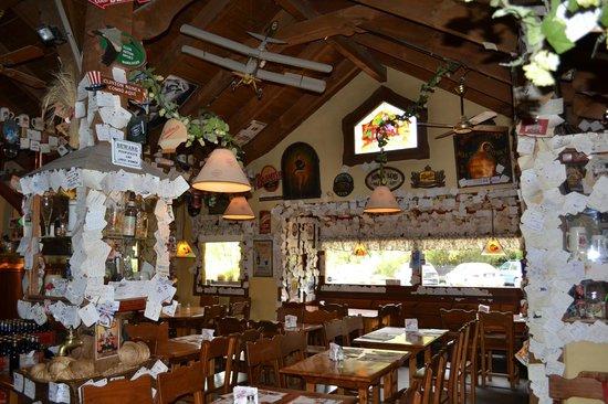 Cerveceria Blest: coasters on teh walls