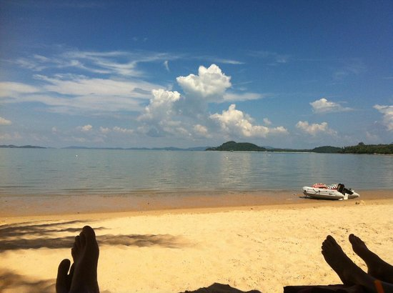 The Village Coconut Island Beach Resort: View from our sun lounger