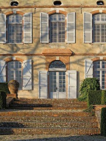 Château de Degrés : détail de la façade