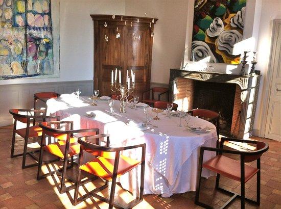 Château de Degrés : Espace petit-déjeuner