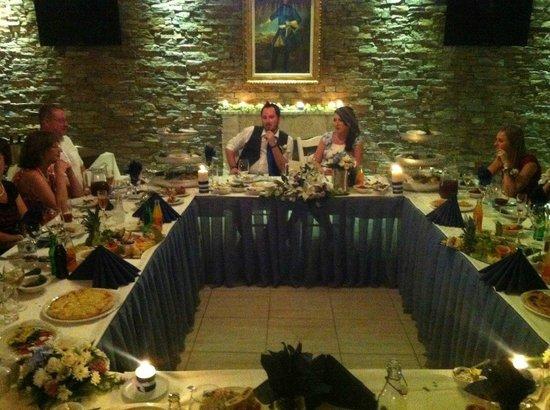 Terrazza Restaurant: wedding dinner