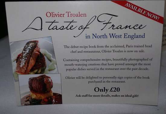 Olivier Troalen, The Head Chef, Has Published A Book. £20