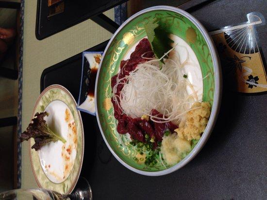 Nanpeidai Onsen Hotel: 馬刺し