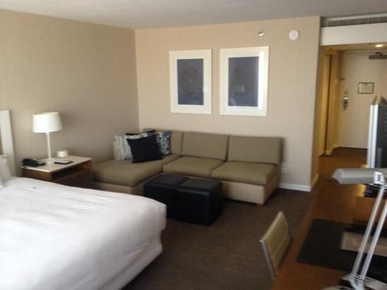 Hyatt Regency Mission Bay: nice size sofa and suite