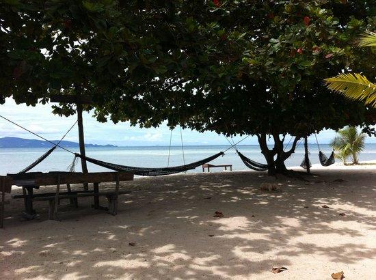 V-View Beach Resort: Aussicht vom Restaurant