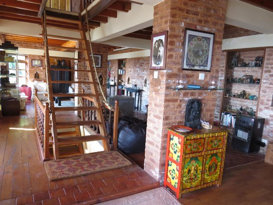 Shivapuri Heights Cottage: The living are in the main house off the dining area