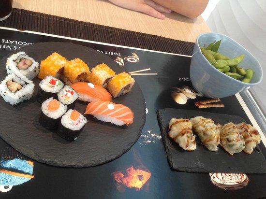 Sushi Store: Sushi en pizarra