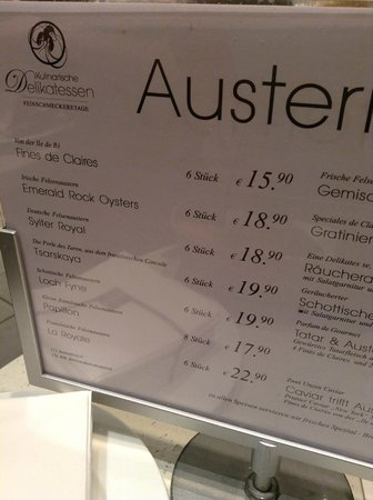 """Oyster Bar KaDeWe: Очень вкусные """"Царские"""" из Франции :)"""