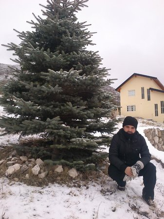 El Pinar en La Ventana: Con la casa de fondo