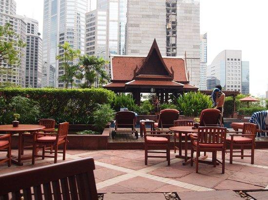 Plaza Athenee Bangkok, A Royal Meridien Hotel: 더 뷰에서 바라본 수영장