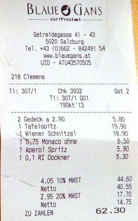 Blaue Gans: 2 pratos + bebidas