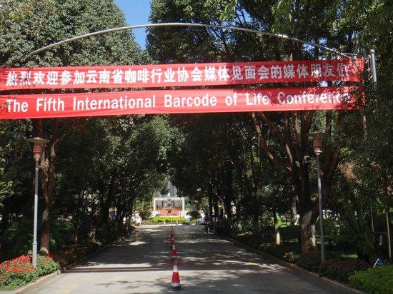 Lian Yun Hotel: Garden entrance