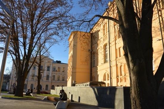 Kharkiv Historical Museum: South side facing Museum Plaza in a sunny November
