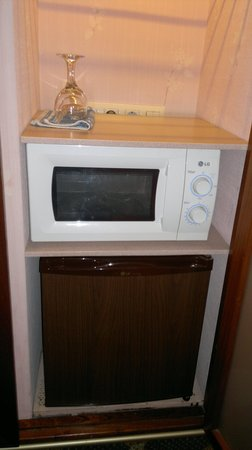 Hotel Continental Barcelona: Microwave and fridge