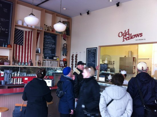 Made in Brooklyn Tours: Old Fellows Ice Cream - all produced fresh in store.