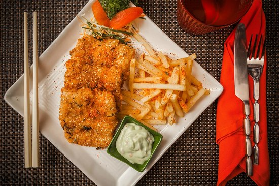 Ahoy! Asia: Japanese style Fried Fish with furikake fries and wasabi tartar