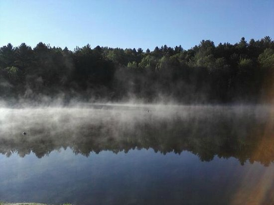 Commodores Inn: the lake early in the morning