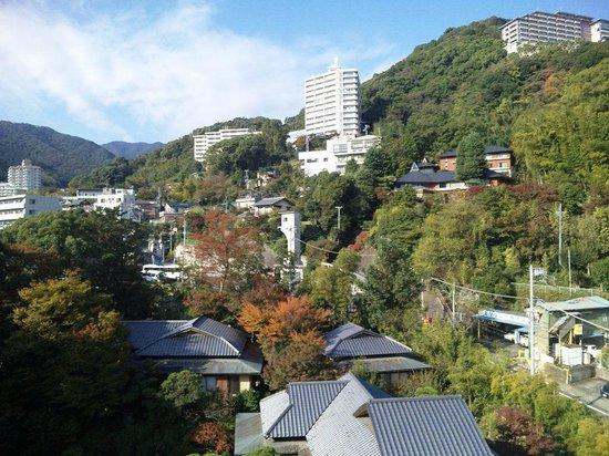 Koarashitei: 海とは反対側の客室からの眺め(昼間)