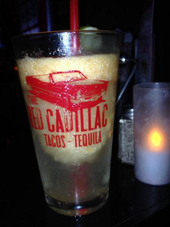 The Red Cadillac..Tacos & Tequilas: Mango margarita was amazing!