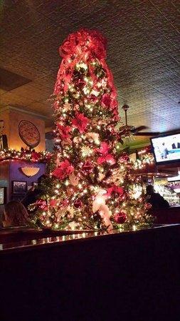 Christmas decor at Pizano's!