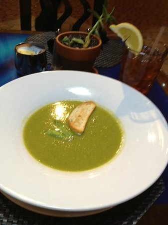Mica: Sweet Pea Soup...no small portion here!