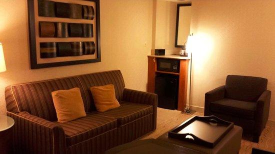 Embassy Suites by Hilton Hotel Santa Clara: Family Area/Mini Lounge inside the room