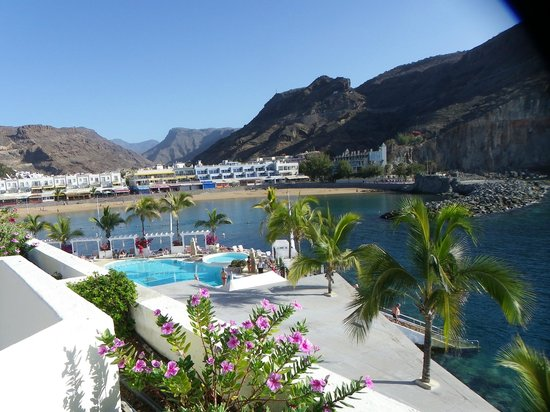 Hotel THe Puerto de Mogán: view from roof top