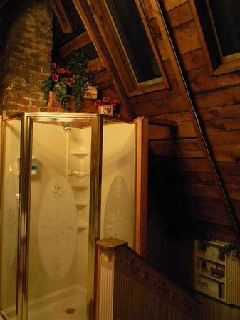 Woodruff House Bed & Breakfast: shower under the skylights