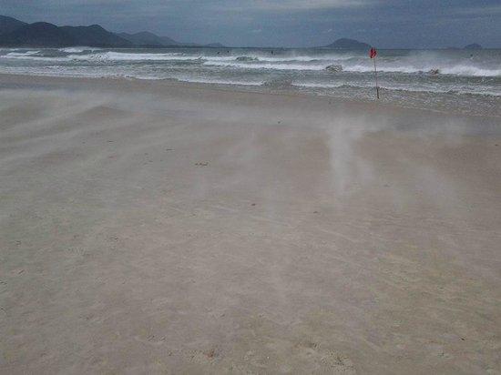 Barra da Lagoa Beach: Vento forte!