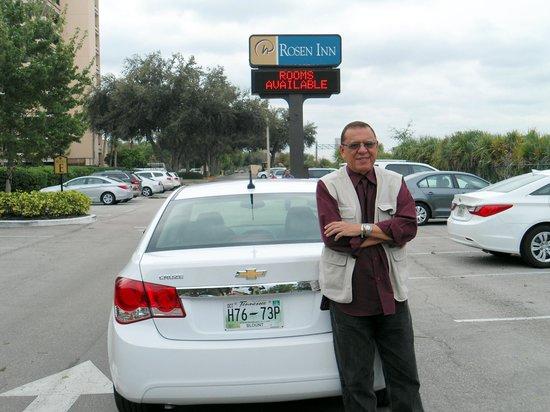 Rosen Inn at Pointe Orlando: Chegando ao hotel...