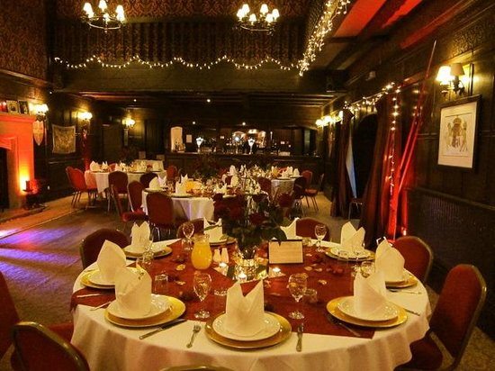 The Manor House Hotel: The Knight's Hall, decorated for our wedding reception