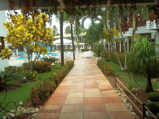 Oceano Praia Hotel: jardines del hotel