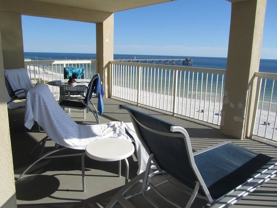 Four Points by Sheraton Destin- Ft Walton Beach: Balcony of 5th Floor Oceanfront Suite