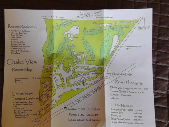 Chalet View Lodge : Plan