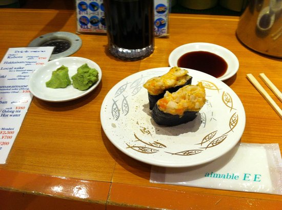 Himawari Zushi Shintoshin: Kani salada sushi  (eccezionali !!!!!!!!!!)