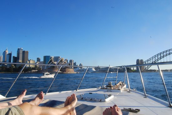Sea Sydney Cruises: Relaxing in the sun!