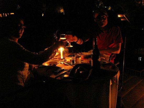 Tongabezi: Sanpan floating candlelit dinner