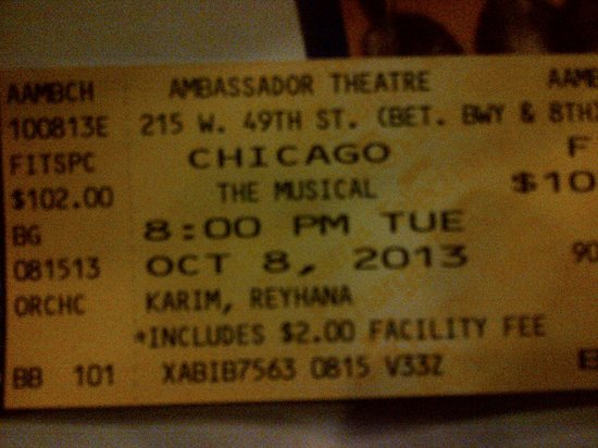 Chicago the Musical: TICKET