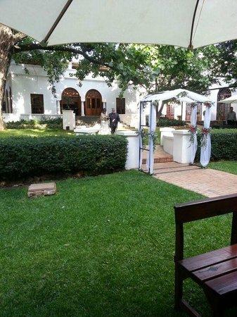 Kleinkaap Boutique Hotel: Garden - Wedding venue