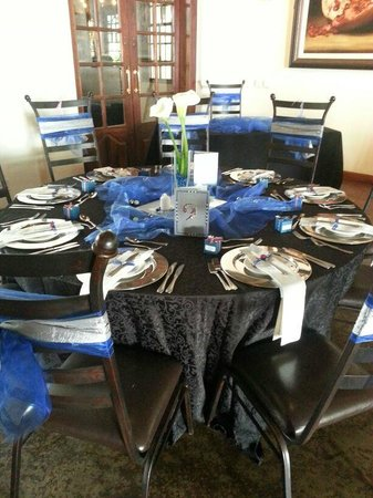 Kleinkaap Boutique Hotel: Table decorations