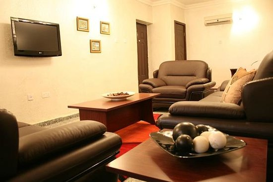 Sigma Apartments : Luxury furnished seating room (Leather settees or fabrics)