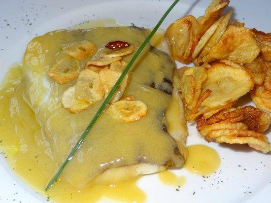 Hotel Restaurante Marroncin: Lomo de bacalao al Pil-Pil