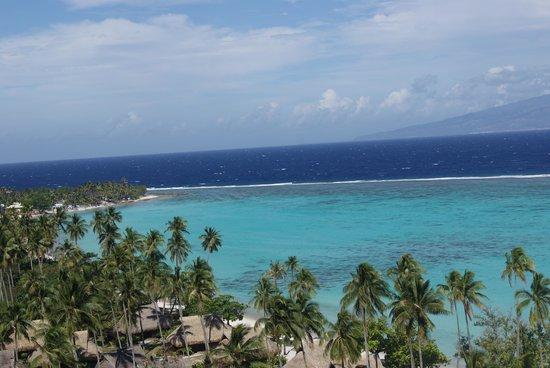Temae Beach : panorama