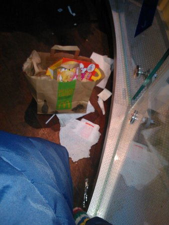 McDonald's: Trash on the floor