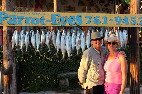Parrot Eyes Watersports: My parents standing proud in front of the catch