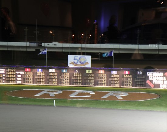 Rideau Carleton Raceway & Casino: View of track from buffet!