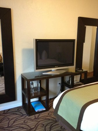 Essex House: *two* full length mirrors and a nice flat screen