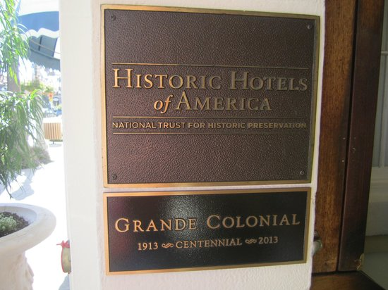 Grande Colonial La Jolla: Cool hotel plaque